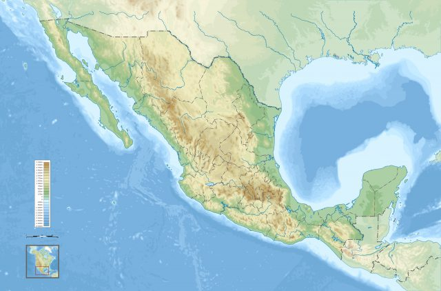 Physical Map Of Mexico
