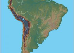 Physical map of south america from geology 6