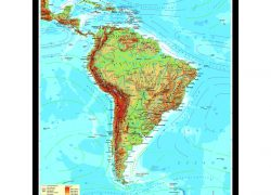 Physical map of south america from mapshop 4