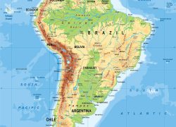 Physical map of south america from pinterest 8