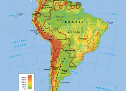 Physical map of south america from vidiani 5