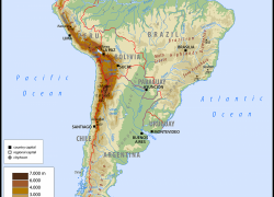 Physical map of south america from worldatlas 3