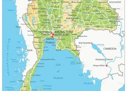 Physical Map Of Thailand: Physical map of thailand from in 1