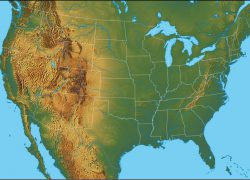 Physical Map Of Us: Physical map of us from geology 1