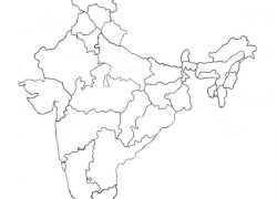 Political map of india blank from coachingindians 2