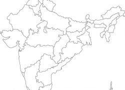 Political map of india blank from in 3