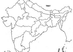 Political map of india blank from in 9