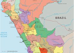 Political map of peru from geographicguide 7