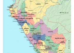 Political map of peru from mapsland 10