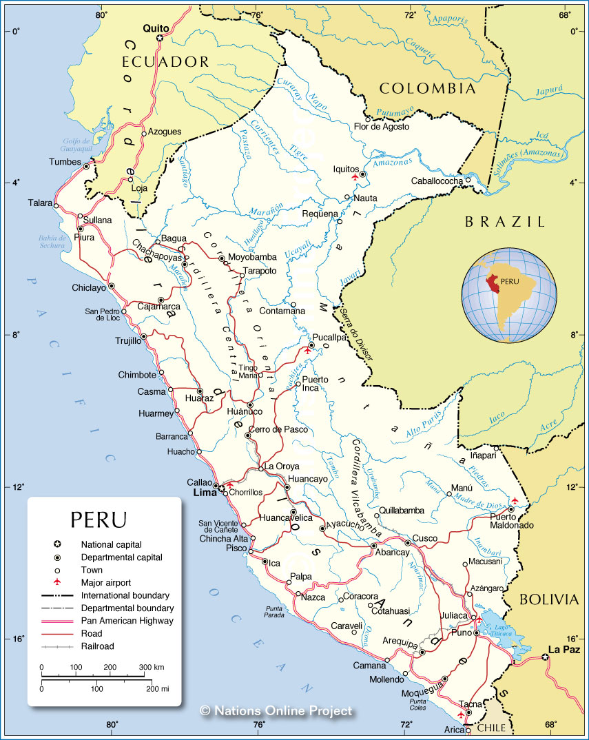 Political Map Of Peru From Nationsonline 1