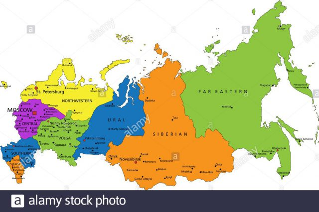 Political Map Of Russia
