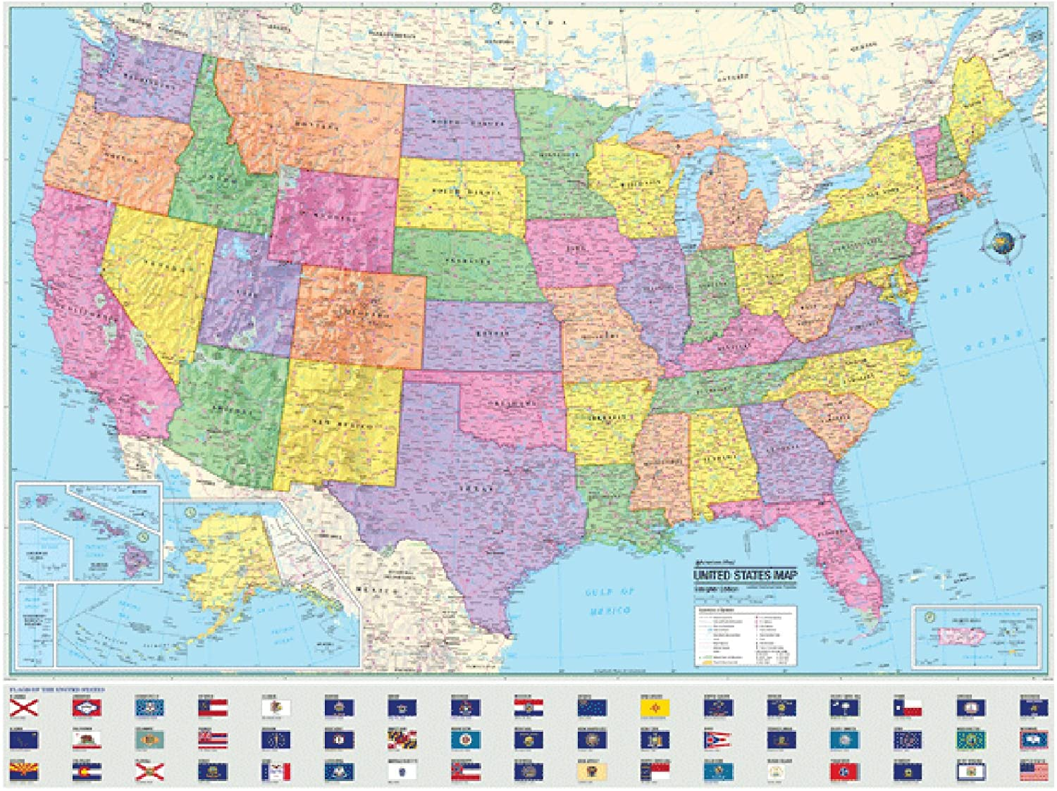 Political Map Of The United States From Amazon 7