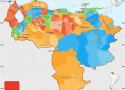 Political map of venezuela from maphill 9