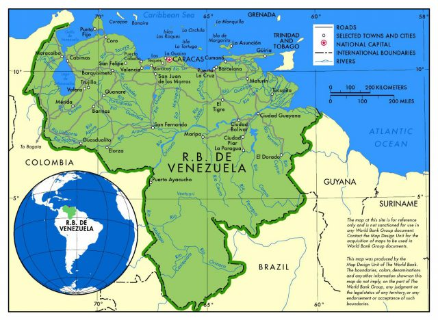 Political Map Of Venezuela
