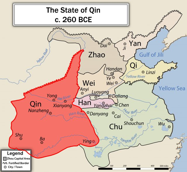 Qin Dynasty Map