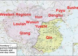 Qin dynasty map from travelchinaguide 9