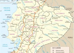 Quito map from geographicguide 3