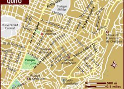 Quito map from lonelyplanet 2