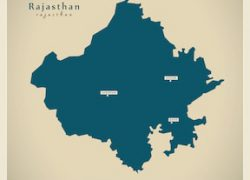 Rajasthan map from shutterstock 8