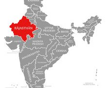 Rajasthan map from stock 7