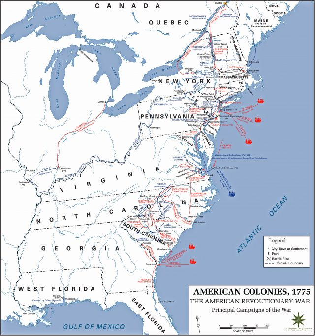 Revolutionary War Map