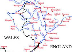 River Severn Map: River severn map from en 1