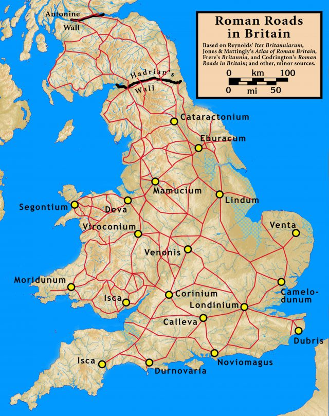 Road Map Of England
