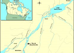 Saint lawrence river map from canada 6