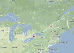 Saint lawrence river map from seaway 8