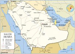 Saudi Arabia Map: Saudi arabia map from nationsonline 1