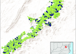 Shenandoah national park map from researchgate 9