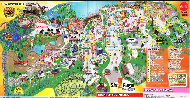 Six flags great adventure map from themeparkreview 2