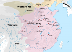 Song Dynasty Map: Song dynasty map from en 2