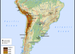 South America Physical Map: South america physical map from worldatlas 1