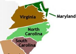 Southern Colonies Map: Southern colonies map from pinterest 1