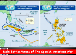 Spanish american war map from quizlet 9