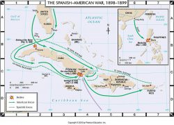 Spanish American War Map: Spanish american war map from wps 1