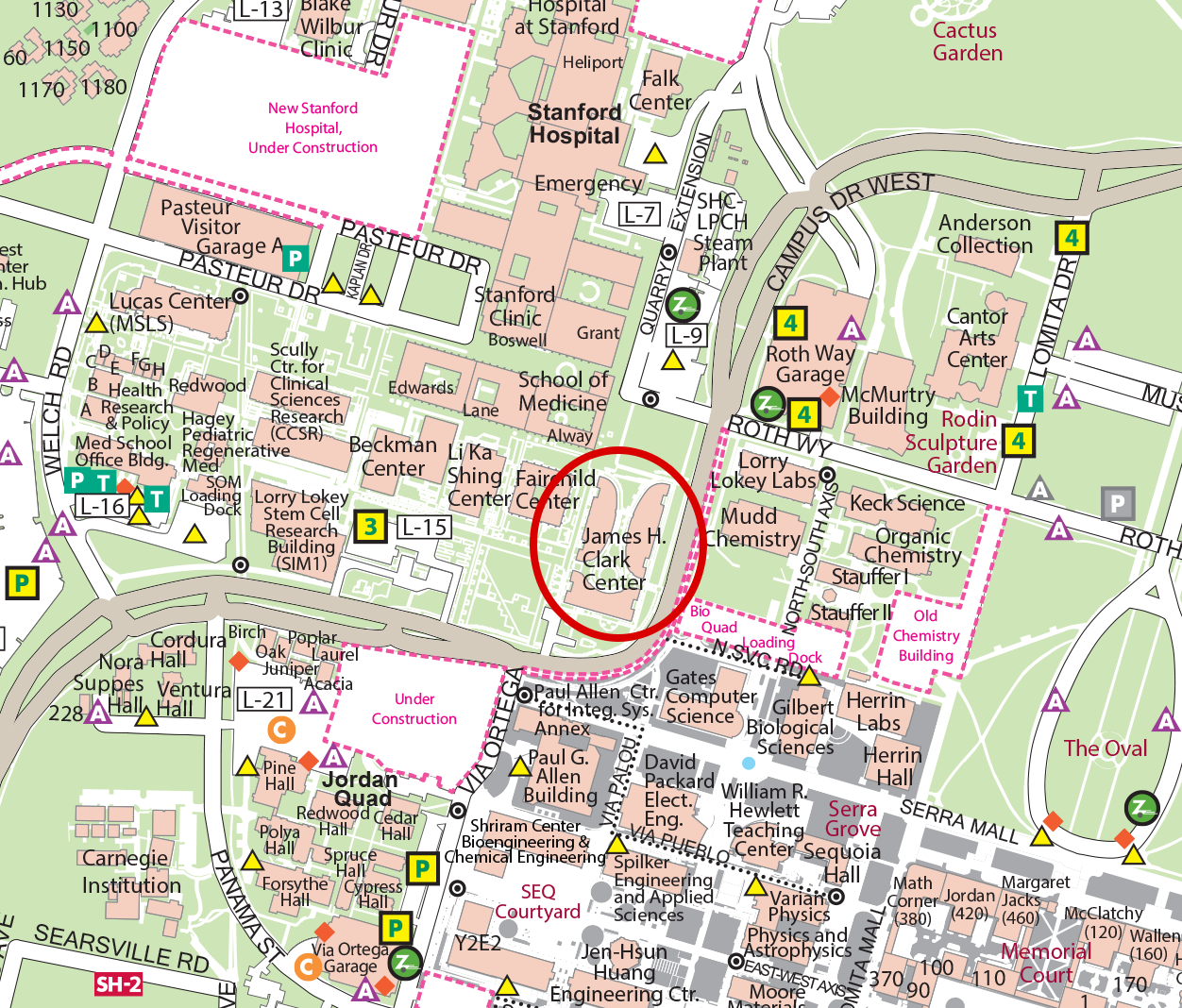 Stanford University Map From Biox 1