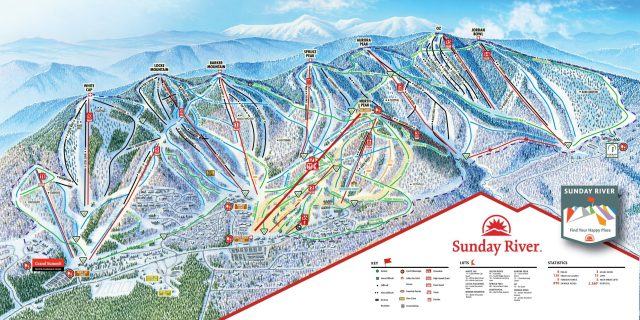 Sunday river trail map from skiresort 1