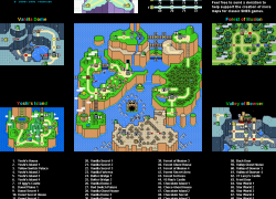 Super mario world map from snesmaps 7