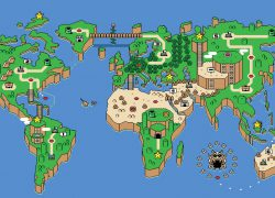Super mario world map from wallpapercave 6
