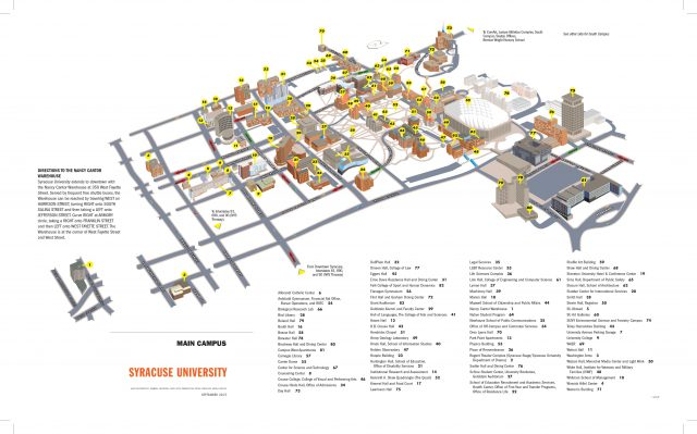 Syracuse university map from maxwell 1