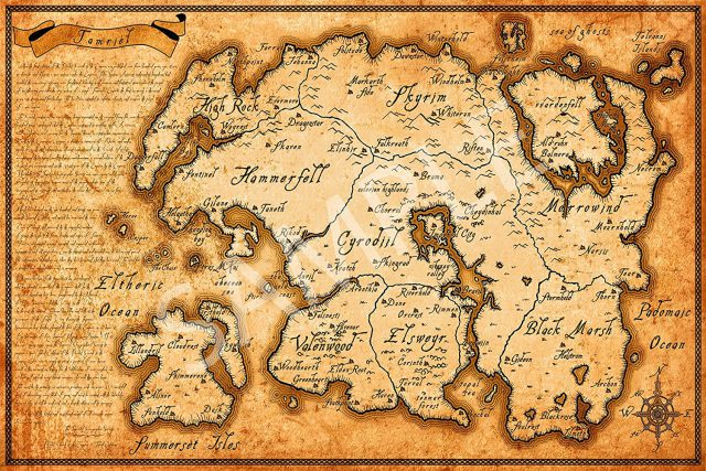 Tamriel map from amazon 1