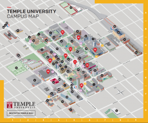 Temple university map from sites 1
