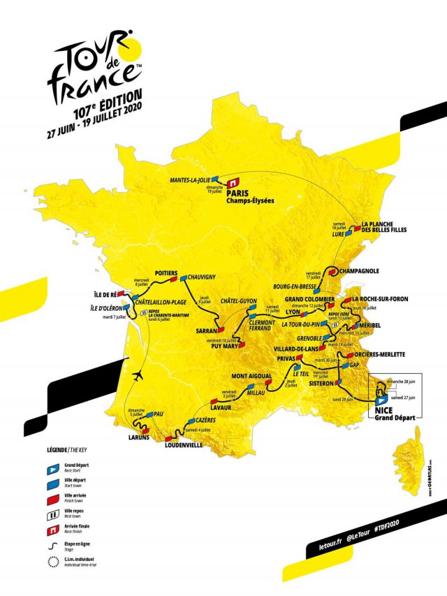 Tour De France 2020 Route Map