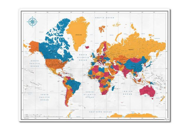 Travel world map from amazon 1