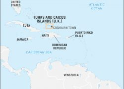 Turks And Caicos Map: Turks and caicos map from britannica 1