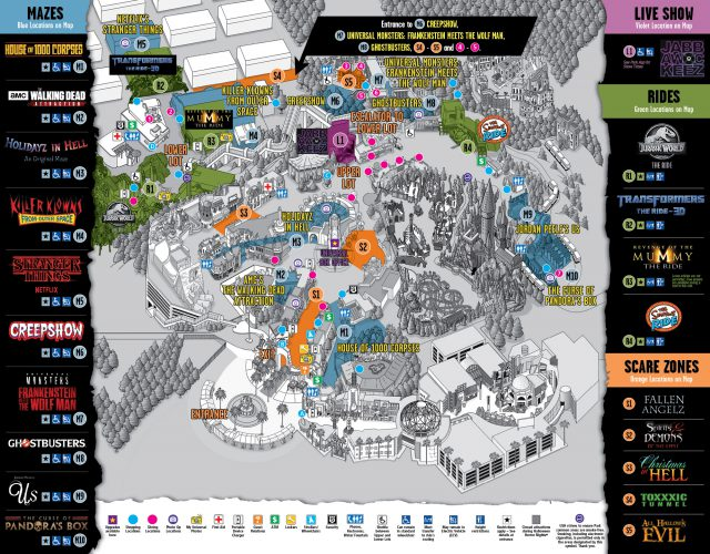 Universal studios hollywood map 2020 from hollywood 2