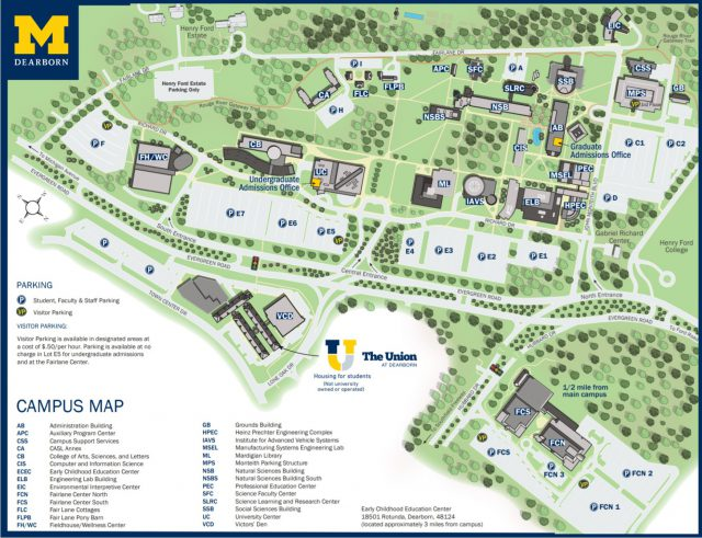 University Of Michigan Campus Map