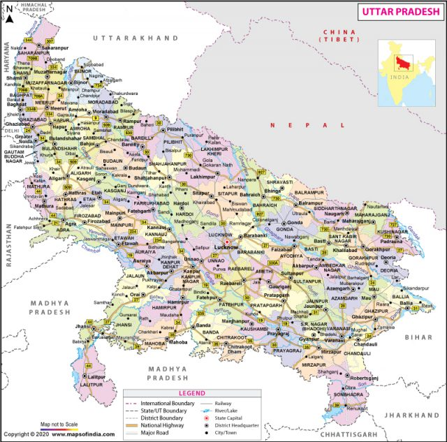Up map from mapsofindia 1